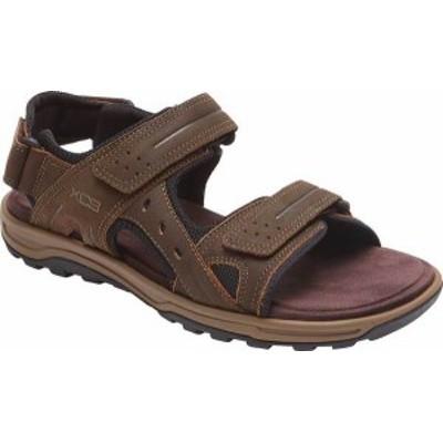 ロックポート メンズ サンダル シューズ Men's Rockport Trail Technique Adjustable Sandal Brown Leather