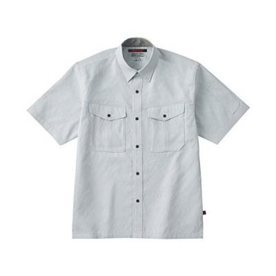 ホシ服装【夏用半袖シャツ】 #784 ホワイトグレーサイズ:L
