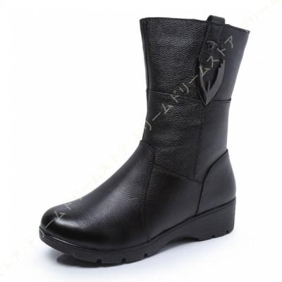 本革 ショートブーツ レディース ハイヒール 歩きやすい 履きやすい 大きいサイズ 秋冬 厚底 チャンキーヒール 疲れない 歩きやすい 痛くない 防寒 秋冬 靴