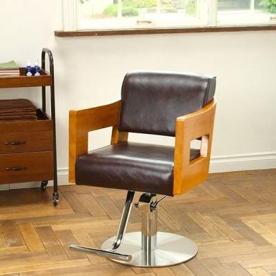 スタイリングチェア Standard OHWOOD ダークブラウン セット椅子 セットイス セットチェア カットチェア カット椅子 カットイス 美容室 椅子 美容師
