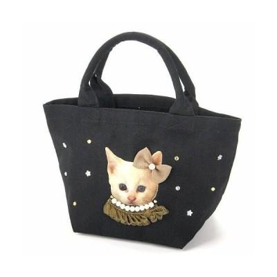 在庫限り廃番終了 リアルプリント 猫 犬 キラキラトートバッグ  ETOILE キャット ドッグ