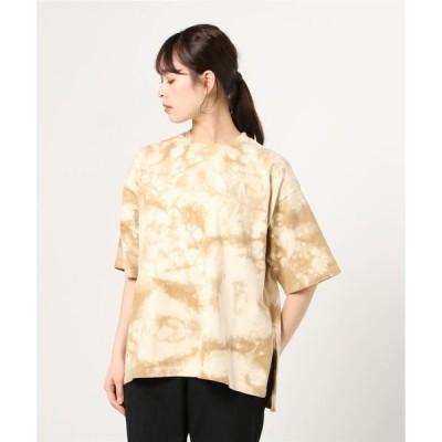 tシャツ Tシャツ MANASTASH/マナスタッシュ W-s TIEDYE LEAF LOGO ウィメンズタイダイリーフロゴ