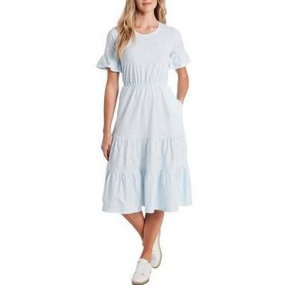 セセ レディース ワンピース トップス Short Sleeve Jewel Neck Ditsy Floral Tiered Dress