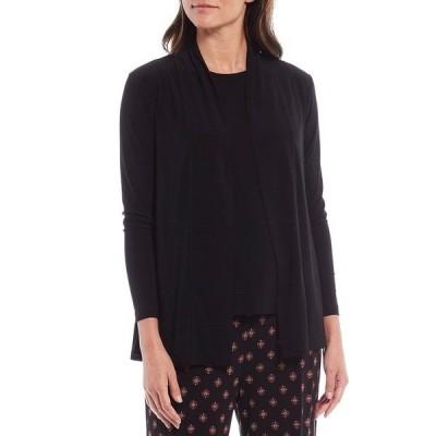 インベストメンツ レディース ジャケット&ブルゾン アウター Soft Separates Long Sleeve Cardigan Black