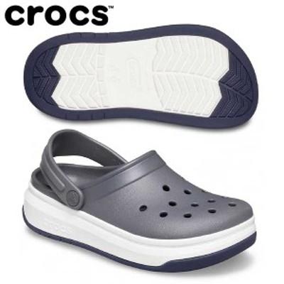 【送料無料】 クロックス クロックバンド フル フォース クロッグ 206122 サンダル スレートグレー/ホワイト crocs Crocband Full Force