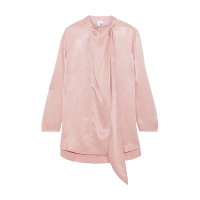 IRIS & INK 無地シャツ&ブラウス ファッション  レディースファッション  トップス  シャツ、ブラウス  長袖 ピンク