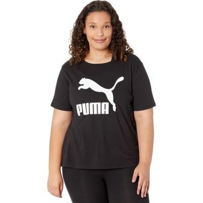プーマ PUMA レディース Tシャツ 大きいサイズ ロゴTシャツ トップス Plus Size Classics Logo Tee PUMA Black