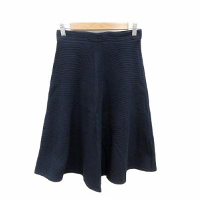 【中古】ドロシーズ DRWCYS フレアスカート ひざ丈 1 紺 ネイビー /ST レディース
