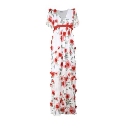 FRANCESCA CONOCI ロングワンピース&ドレス ホワイト L ポリエステル 95% / ポリウレタン 5% ロングワンピース&ドレス