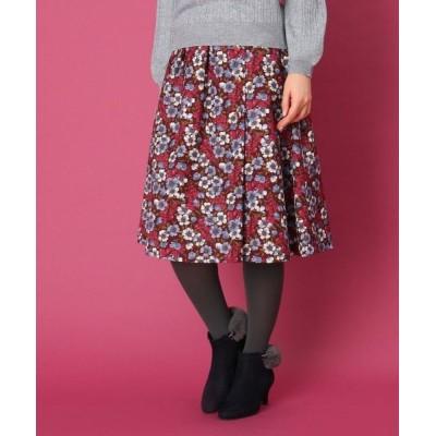 Couture Brooch/クチュールブローチ 【WEB限定サイズ(LL)あり/手洗い可】レトロフラワースカート ボルドー(164) 38(M)