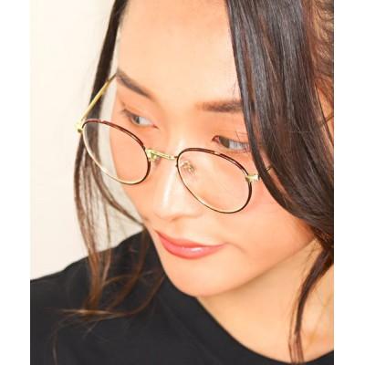 (LUXSTYLE/ラグスタイル)ボストンサングラス/サングラス メンズ レディース ボストン 伊達メガネ 伊達眼鏡/メンズ ゴールド系1