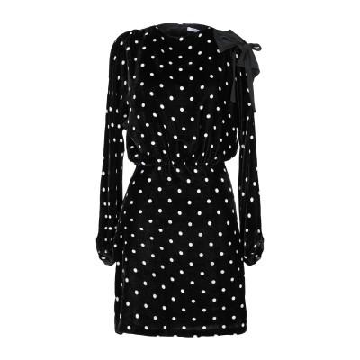 VIVETTA ミニワンピース&ドレス ブラック 38 レーヨン 82% / シルク 18% / アセテート / ポリウレタン ミニワンピース&ドレス