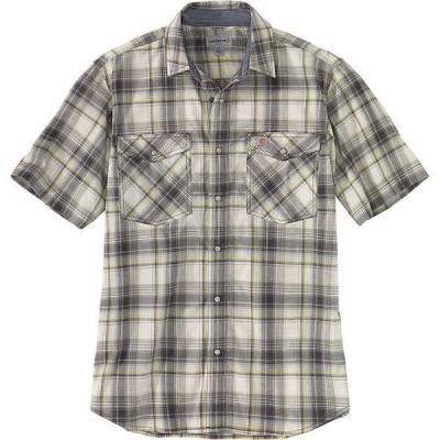 カーハート シャツ メンズ トップス Carhartt Men's Rugged Flex Relaxed-Fit Lightweight SS Snap-Front Plaid Shirt Olive
