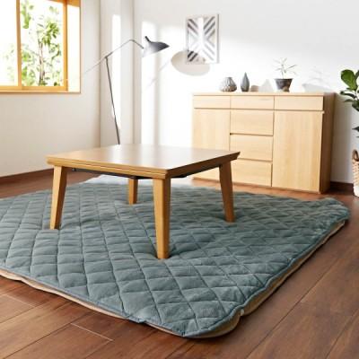 こたつ布団 おしゃれ こたつ敷き布団 撥水マイクロファイバーの洗えるパッド(こたつ敷布団用) 「グレー」