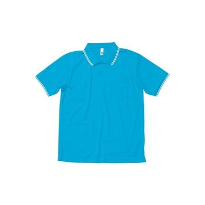 LIFEMAX(ライフマックス)ポロシャツ ユニセックス ハニカムメッシュ ライン入り GS ターコイズ MS3112