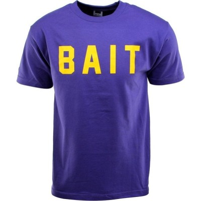 BAIT メンズ Tシャツ ロゴTシャツ トップス Logo Tee purple/yellow