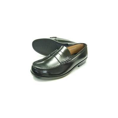 BRAVAS Lapel コインローファー ビジネスシューズ 黒 メンズ(男性用)/紳士靴 学生靴 通学靴