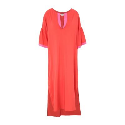 バランタイン BALLANTYNE 7分丈ワンピース・ドレス レッド 40 シルク 91% / ポリウレタン 9% 7分丈ワンピース・ドレス