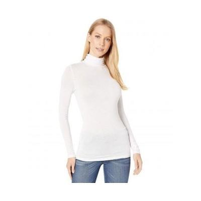 BCBGeneration ビーシービーゲネレーション レディース 女性用 ファッション Tシャツ Turtleneck Layering Long Sleeve - Optic White