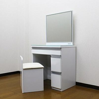 ドレッサー 1面ミラー コスメ収納 ヘアメイク 椅子 70cm お姫様 安い 激安 コンパクト ビューティー 美容 サロン メイクルーム