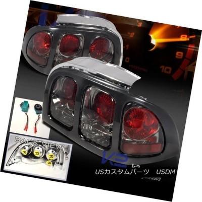 テールライト 1994-1998 Ford Mustangリアブレーキテールライトスモークレンズ左+右 1994-1998 Ford Mustang