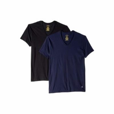 ラルフ ローレン Polo Ralph Lauren メンズ Tシャツ 3点セット トップス Classic Fit w/ Wicking 3-Pack V-Necks Cruise Navy/White/Blac