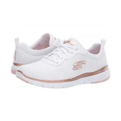 SKECHERS スケッチャーズ レディース 女性用 シューズ 靴 スニーカー 運動靴 Flex Appeal 3.0 - White/Rose Gold