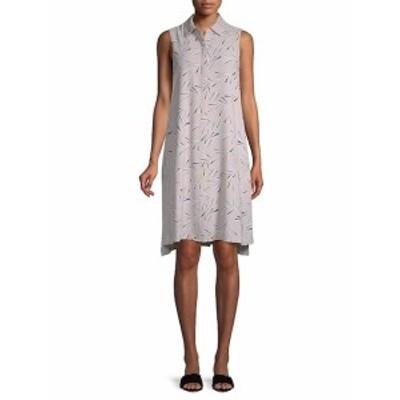 アンクライン レディース ワンピース Collared Trapeze Dress