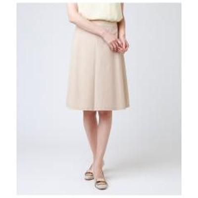NEWYORKER(ニューヨーカー)【ウォッシャブル】ポリコットンシャンブレー Aラインスカート