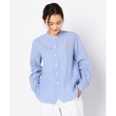 【フレディアンドグロスター】 LINEN SHIRTS ロングスリーブバンドカラーシャツ #JD−3606KLS レディース サックス 38 FREDY&GLOSTER