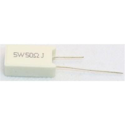 セメント抵抗 5w50Ω(縦型) 1個