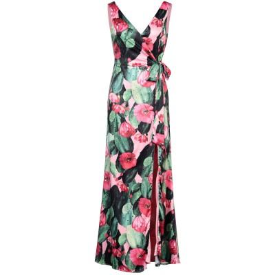 VITTORIA ROMANO ロングワンピース&ドレス グリーン 42 ポリエステル 100% ロングワンピース&ドレス
