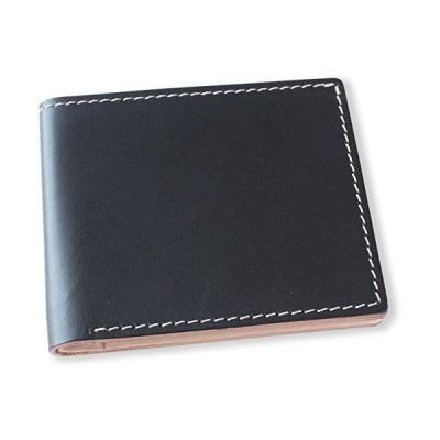 (手作り革雑貨ブラン・クチュール)BlancCouture ミニ財布(小銭入れ無し)二つ折りコンパクトウォレット/国産フルタンニンドレザー(