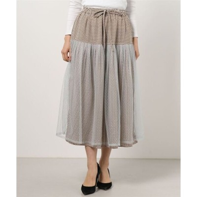 スカート オーバーチュールプリントロングスカート