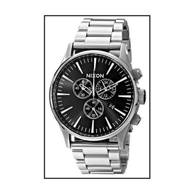 NIXON メンズ Sentry クロノ 腕時計 One Size ブラック