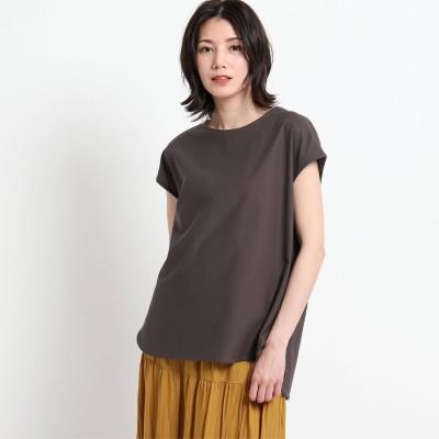 デッサン Dessin 【XS~L・手洗い可能】シャツテールTシャツ (ディープブラウン)