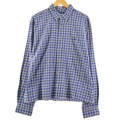ラルフローレン Ralph Lauren CLASSIC FIT クラシックフィット 長袖 ボタンダウンチェックシャツ メンズXL /eaa167993