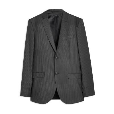 TOPMAN テーラードジャケット グレー 34 R ポリエステル 64% / レーヨン 34% / ポリウレタン 2% テーラードジャケット