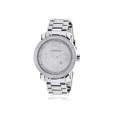 LUXURMAN Mens Diamond Watch 0.12 ct