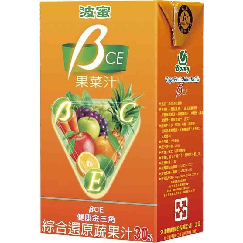 波蜜BCE果菜汁TP250ml