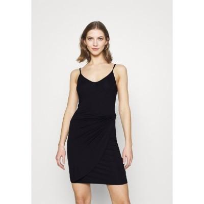 エブンアンドオッド ワンピース レディース トップス Shift dress - black