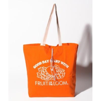 (FRUIT OF THE LOOM/フルーツオブザルーム)BRAIDED CORD TOTE BAG/ユニセックス オレンジ