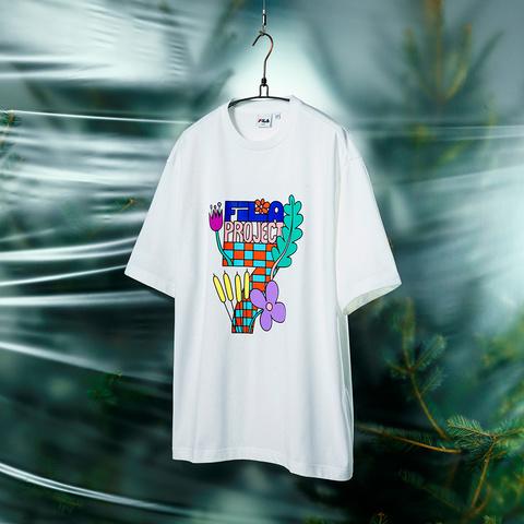 FILA #BackToNature 短袖圓領T恤-白色 1TEV-1235-WT