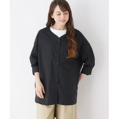 ZAMPA(ザンパ) テールカットヘム7分袖シャツ