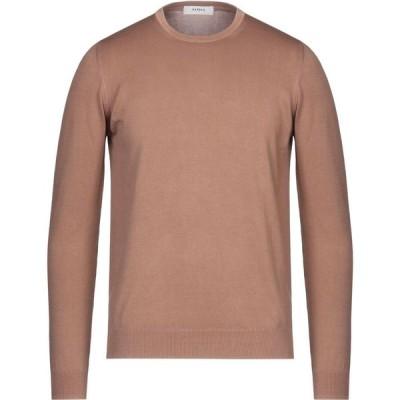 アルファス テューディオ ALPHA STUDIO メンズ ニット・セーター トップス sweater Camel