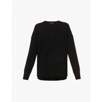 セオリー THEORY レディース ニット・セーター トップス Karenia cashmere jumper BLACK