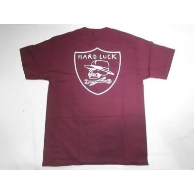 HARDLUCK ハードラック HARD SIX ハードシックス Tシャツ バーガンディー