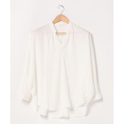 (coca/コカ)ドルマンスタンドカラーシャツ/レディース WHITE