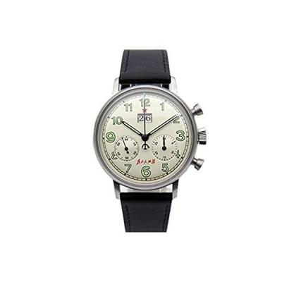 パイロット腕時計メンズクロノグラフ手巻きメカニカルシーガルMvtビッグデイトリヴォリダイヤル
