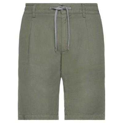 ELEVENTY ショートパンツ&バミューダパンツ  メンズファッション  ボトムス、パンツ  ショート、ハーフパンツ ミリタリーグリーン
